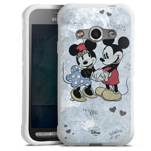 DeinDesign Handyhülle »Mickey&Minnie In Love« Samsung Galaxy Xcover 3, Hülle Offizielles Lizenzprodukt Minnie Mouse Mickey Mouse