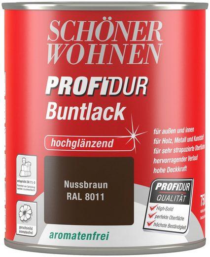Schöner Wohnen Farbe Buntlack »ProfiDur hochglänzend, 750 ml nussbraun«