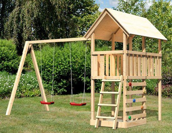 ABUKI Spielturm »Winnie 13«, BxT: 484x183 cm, mit Doppelschaukel und Kletterwand