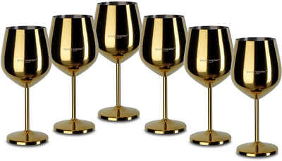 ECHTWERK Weinglas, Edelstahl, PVD Beschichtung, 6-teilig