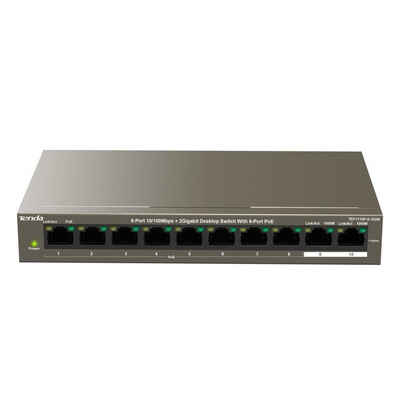 Tenda »Tenda Switch TEF1110P-8-63W 8-port 10/100« Netzwerk-Switch