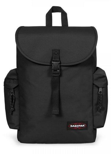 Eastpak Laptoprucksack »AUSTIN+, Black«, enthält recyceltes Material (Global Recycled Standard)