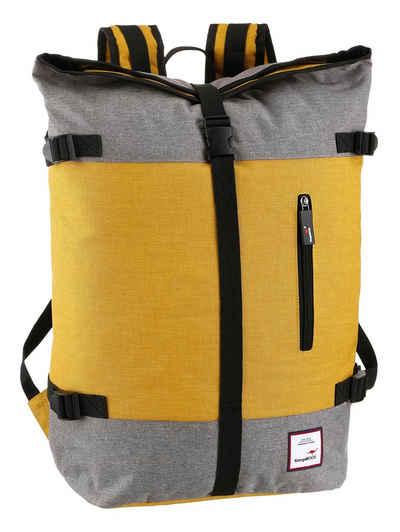 KangaROOS Cityrucksack, mit modischem Roll Top