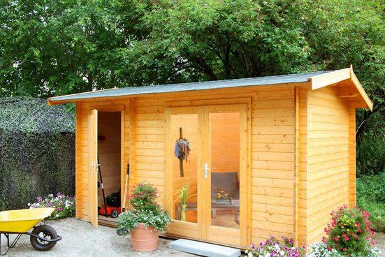 WOLFF FINNHAUS Gartenhaus »Amrum 28«, BxT: 470x300 cm, inkl. Fußboden, mit 2 Räumen