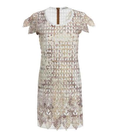 TUZZI Sommerkleid »TUZZI Kurzarm-Kleid schickes Damen Midi-Kleid Sommer-Kleid im Afrika-Look Beige«