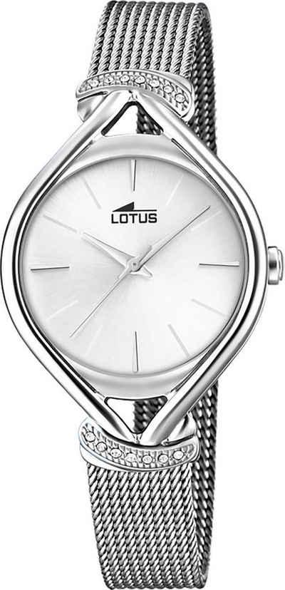 Lotus Quarzuhr »UL18743/1 Lotus Damen Armbanduhr Bliss 18743/1«, (Analoguhr), Damenuhr oval, mittel (ca. 33mm), Edelstahl, Edelstahlarmband, Elegant-Style