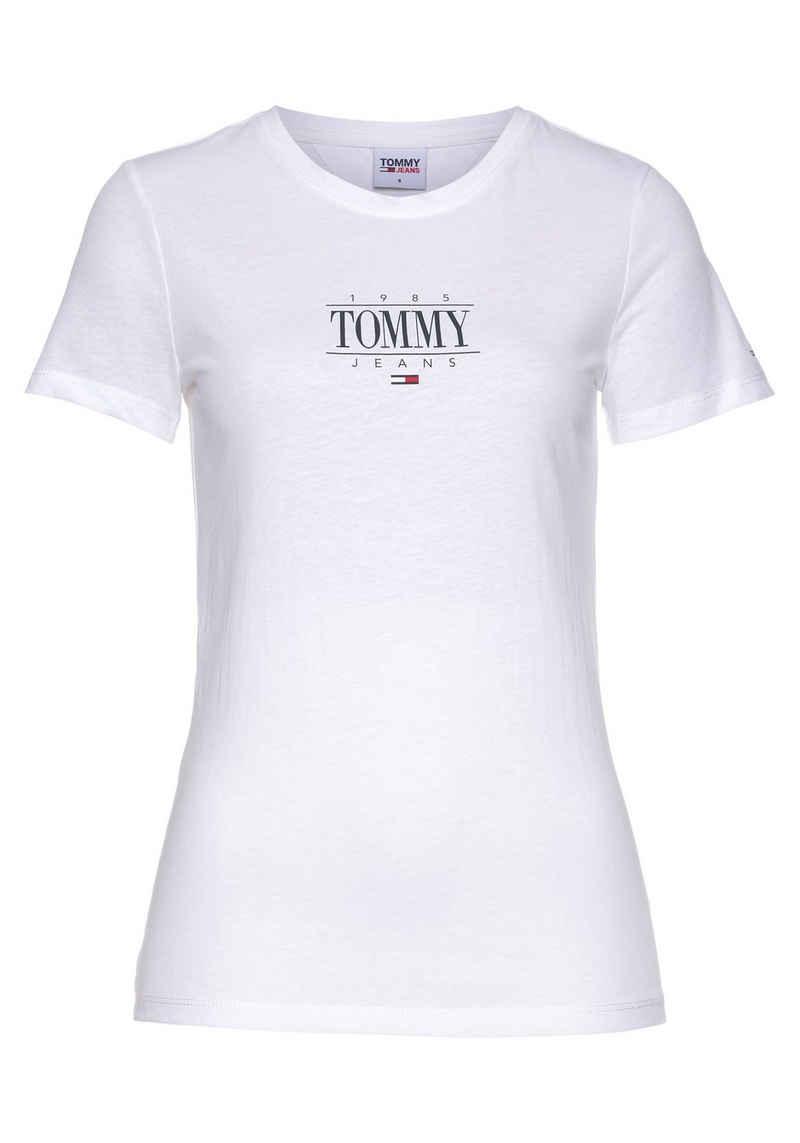 Tommy Jeans Rundhalsshirt »TJW SKINNY ESSENTIAL LOGO 1 TEE« mit Tommy Jeans Logo-Schriftzug & Flag auf dem Ärmel