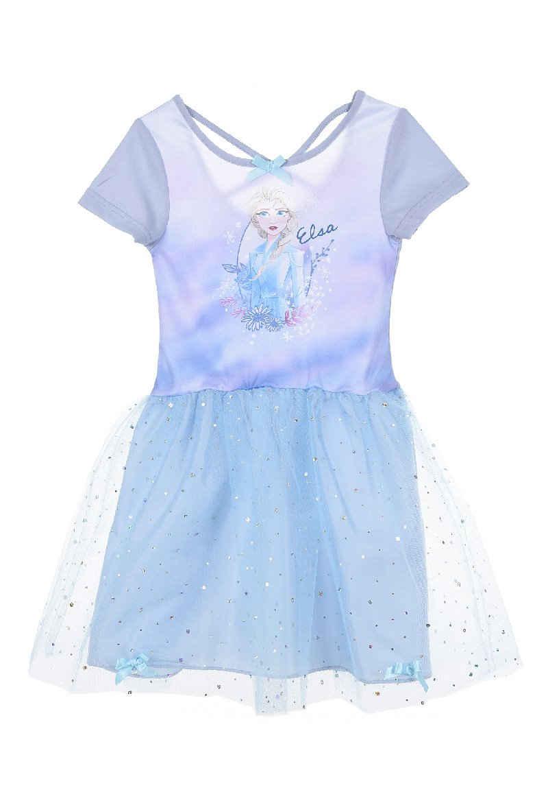 Disney Frozen Tüllkleid »Eiskönigin Elsa Mädchen Sommer-Kleid« kurzärmlig Dress