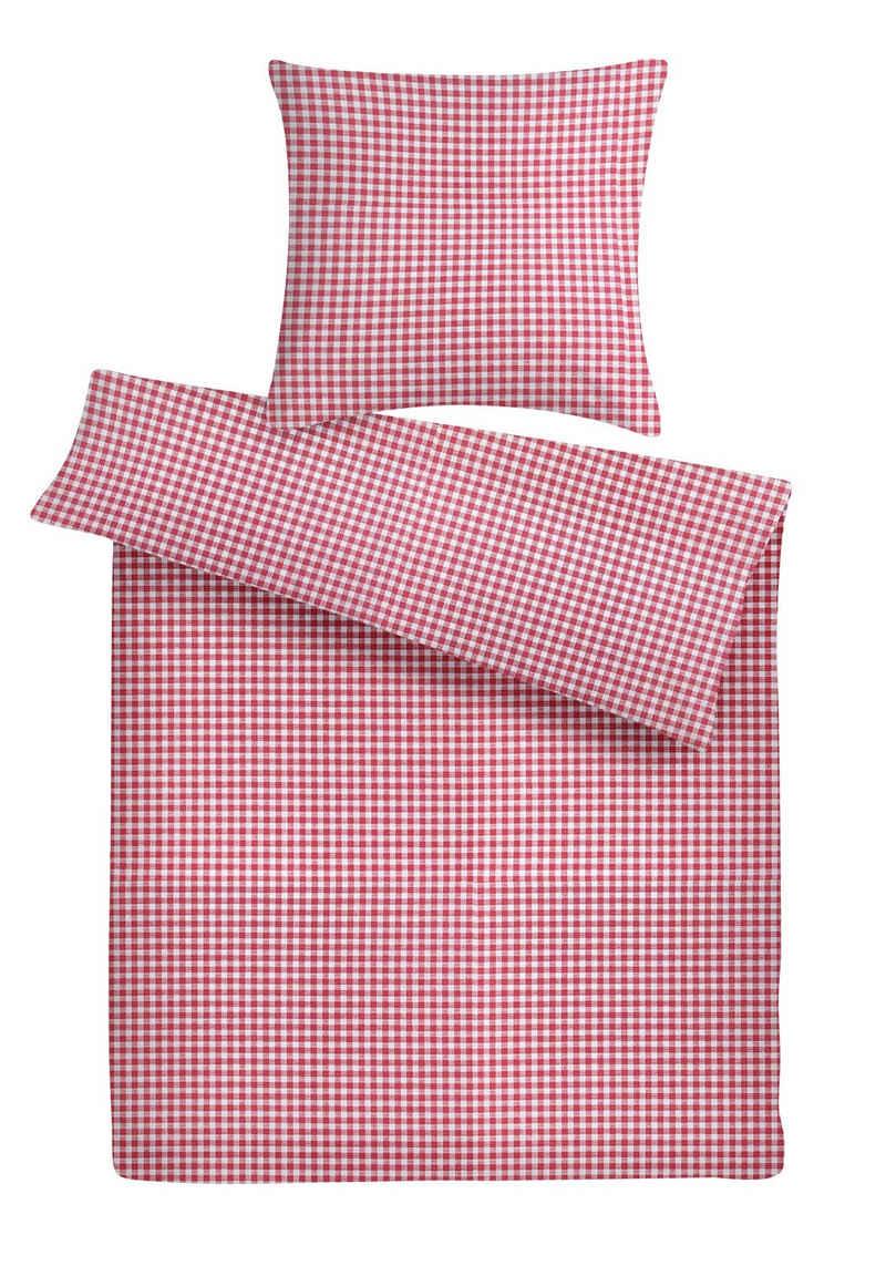 Bettwäsche »Karierte Mako Perkal Bettwäsche aus 100 % Baumwolle, fein und geschmeidig«, Carpe Sonno, Hochwertige Mako-Perkal Bettgarnitur aus 100% Baumwolle, klassisches Karo Muster, besonders strapazierfähig und weich, stilvoller Bettbezug made in Austria, trocknergeeignet und bügelfrei