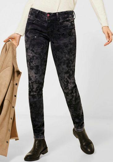 STREET ONE Slim-fit-Jeans »York« mit Leo-Print-Anhänger