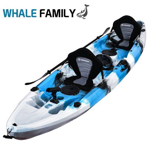WIN.MAX Sit-on-Top Kajak »WHALE FAMILY Kayak set mit Kombi-Paddel Angelkajak«, BxLxH: 87x370x37cm