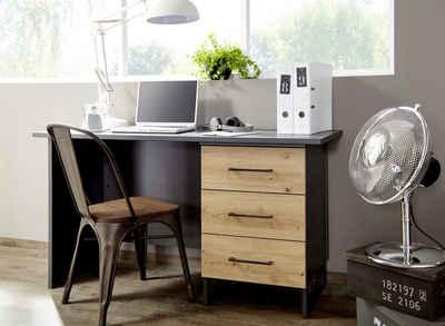 rauch ORANGE Schreibtisch »Holmes«, im Industrial Style mit 3 Schubkästen