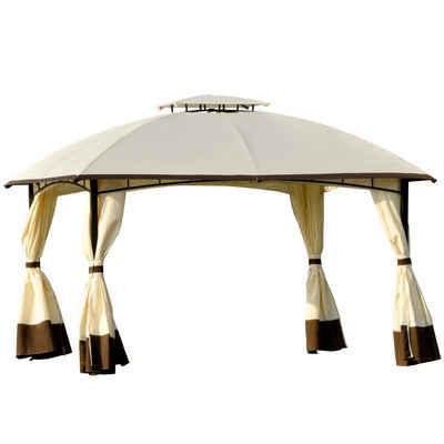 Outsunny Pavillon »Gartenpavillon mit zweistufigem Dach«