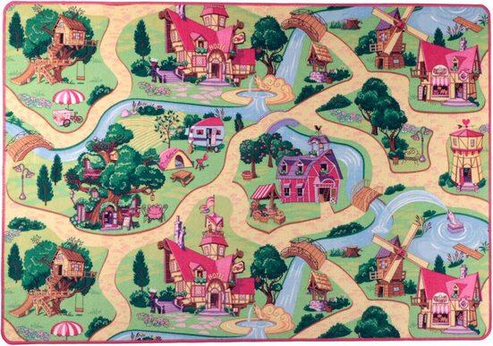 Kinderteppich »Feenwelt«, Living Line, rechteckig, Höhe 7 mm, Straßen-Spielteppich