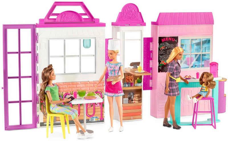 Barbie Spielwelt »Restaurant Bistro«, mit Puppe (blond) und Zubehör