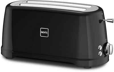 NOVIS Toaster T4 schwarz, 2 lange Schlitze, 1600 W