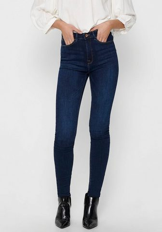 Only High-waist-Jeans »PAOLA« 5-Pocket-Desi...