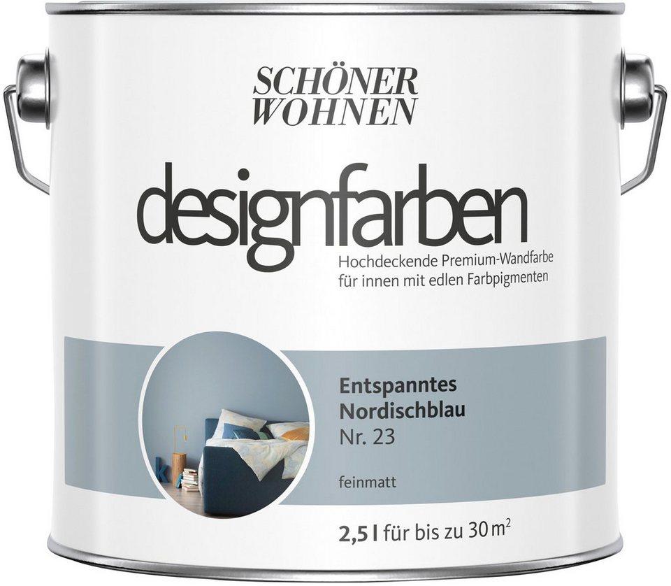 Schoner Wohnen Farbe Farbe Designfarben Entspanntes Nordischblau Nr 23 Feinmatt 2 5 L Online Kaufen Otto