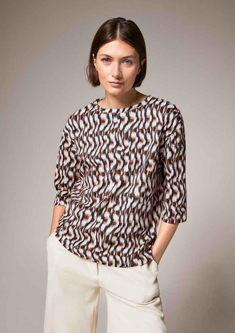 Comma Kurzarmshirt »3/4-Arm-Shirt aus Jersey« (1-tlg)