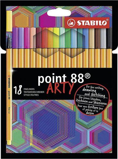 STABILO Dekorierstift »Fineliner point 88 ARTY, 18 Farben«