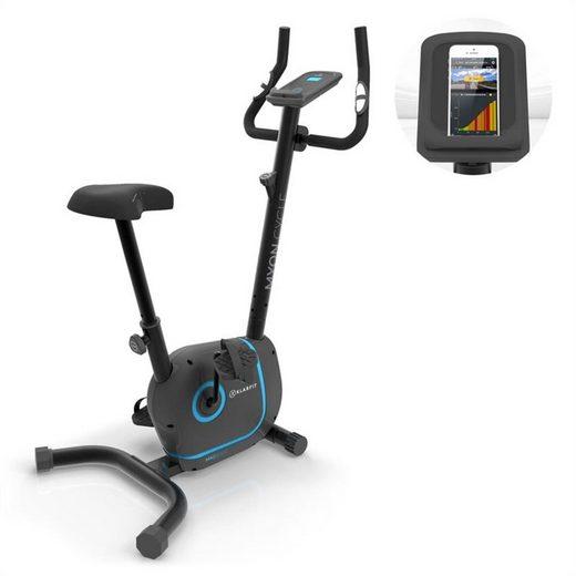 KLARFIT Heimtrainer »Myon Cycle Heimtrainer 12kg Schwungmasse SmartCardio Studio schwarz« (Tablet-Halterung ; Kinomap App;pullsmesser)