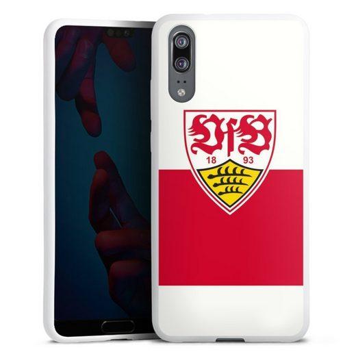 DeinDesign Handyhülle »VfB Stuttgart Brustring« Huawei P20, Hülle VfB Stuttgart Offizielles Lizenzprodukt Logo