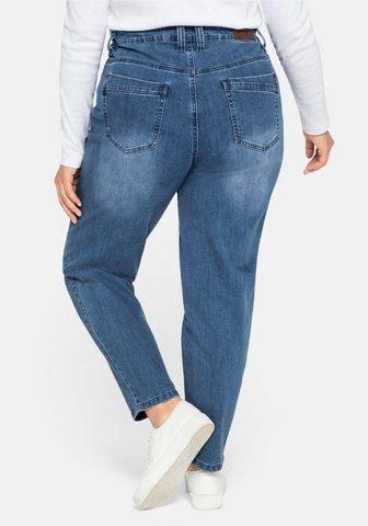 Sheego Stretch-Jeans Mom su Destroyed-Effekte...
