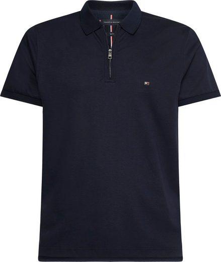 TOMMY HILFIGER Poloshirt, Kragen mit Reißverschluss