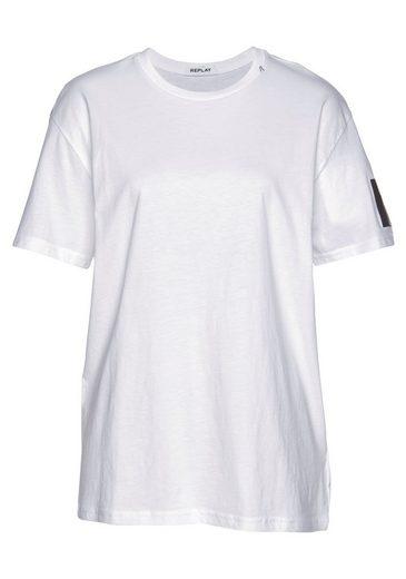 Replay T-Shirt mit Stickerei