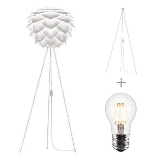 Umage Stehlampe »Umage / VITA Silvia Stehleuchte weiss für A++ bis E inkl. Tripod und LED A+ D 45 cm H 154 cm Lampe«