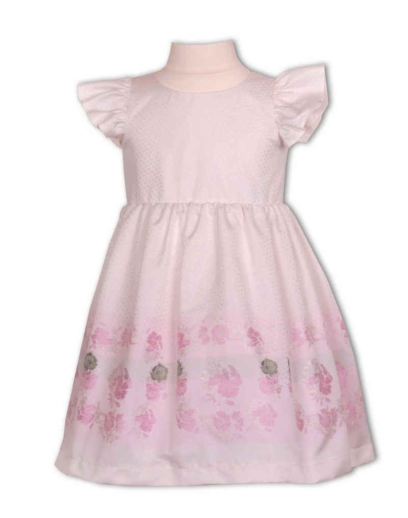 Pezzo D'oro Dirndl »Edles Mädchenkleid von Pezzo D'oro, Brautmädchenkleid, Farbe creme, rose Rosenbordüre«