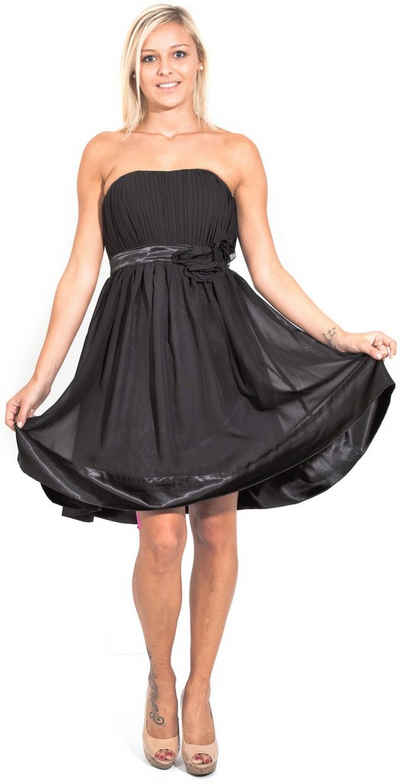 AvaMia Cocktailkleid »AvaMia-Kleid-91« Cocktailkleid, Festliches Chiffon Festtagskleid Abendkleid, Chiffonkleid, Kleid, Länge knielang