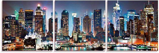 Artland Glasbild »New York City Times Square«, Amerika (3 Stück)