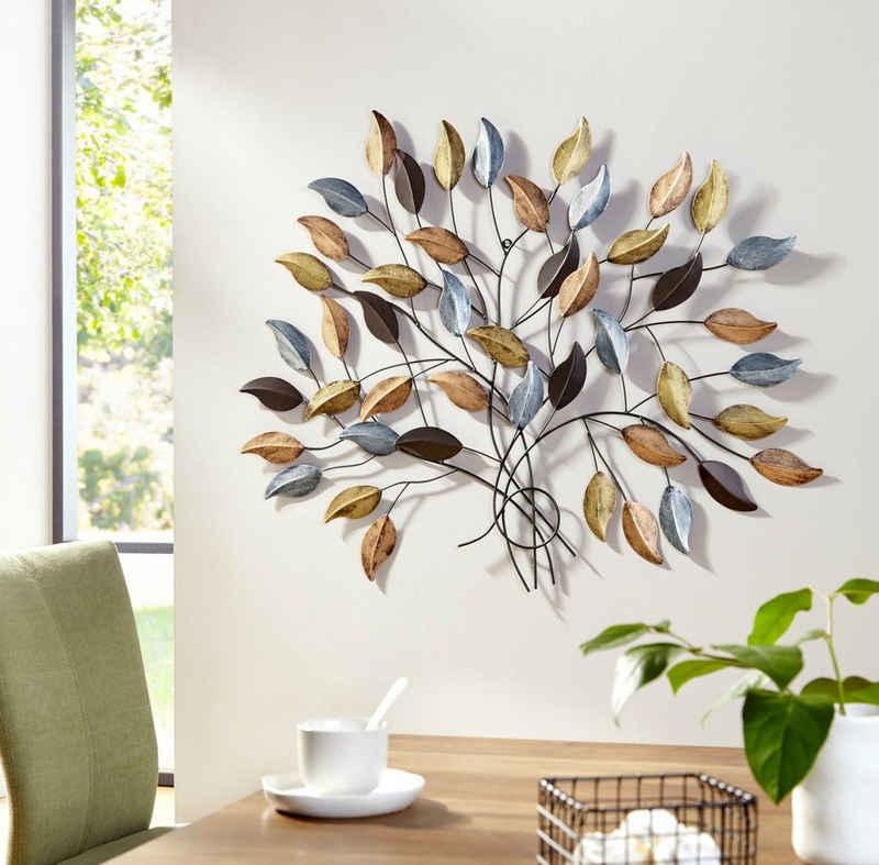 my home Wanddekoobjekt »Fagus«, Wanddeko, Wanddekoration, aus Metall
