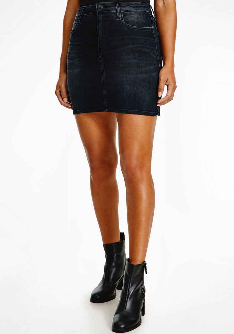 Calvin Klein Jeans Jeansrock »HR MINI SKIRT« mit Calvin Klein Jeans Logo-Badge & Flag
