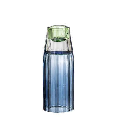 Bloomingville Kerzenhalter »Bloomingville Kerzenhalter / Vase Glas Blau 12,5 cm«