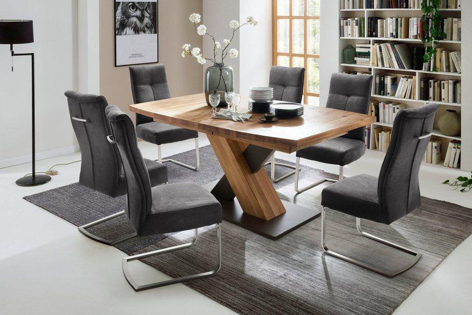 Mca Furniture Saulen Esstisch Mendoza Mit Auszugsfunktion Online Kaufen Otto
