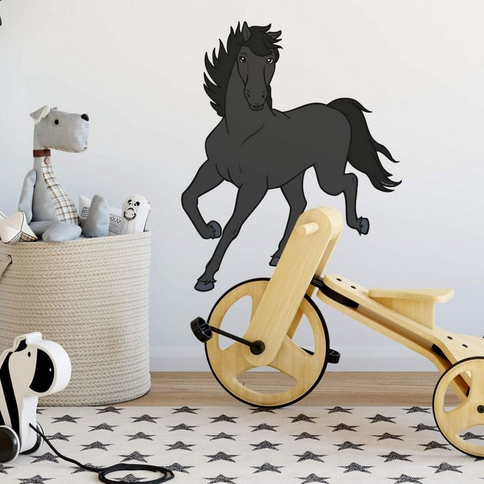 Bibi und Tina Wandtattoo »Bibi & Tina Wandtattoo Wandsticker Kinderzimmer  Pferd Aufkleber Maharadscha« online kaufen   OTTO