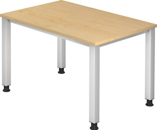 bümö Schreibtisch »OM2-QS12«, stufenlos höhenverstellbar - Rechteck: 120x80 cm - Dekor: Ahorn, bümö® Premium Qualität