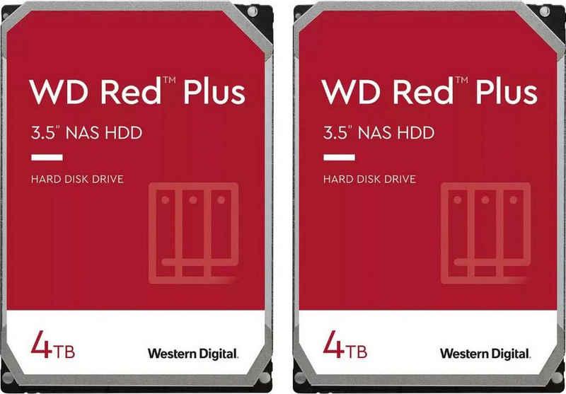 "Western Digital »WD Red Plus« HDD-NAS-Festplatte (4 TB) 3,5"", 2 x WD Red Plus 4TB)"