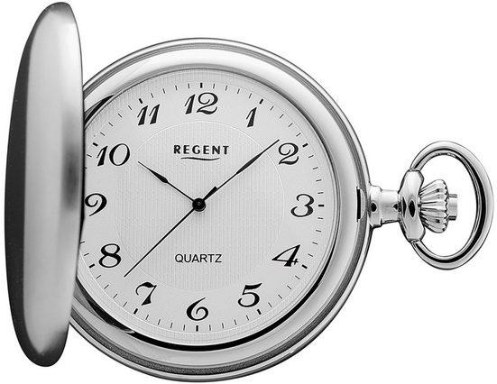 Regent Taschenuhr »URP022 Regent Herren MechanischTaschenuhren silber«, (Analoguhr)