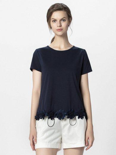 Apart T-Shirt »mit 3-D-Blüten am Saum« mit 3-D-Blüten am Saum