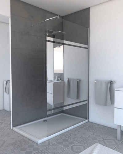 Marwell Walk-in-Dusche »Plano«, Einscheibensicherheitsglas, (1 tlg), mit Sichtschutz