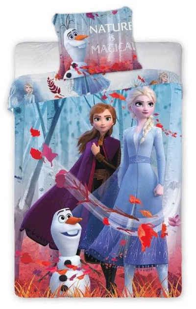 Kinderbettwäsche »Die Eiskönigin Anna Elsa - Kinder Bettwäsche Set 140x200 cm Deckenbezug Frozen«, Disney Frozen