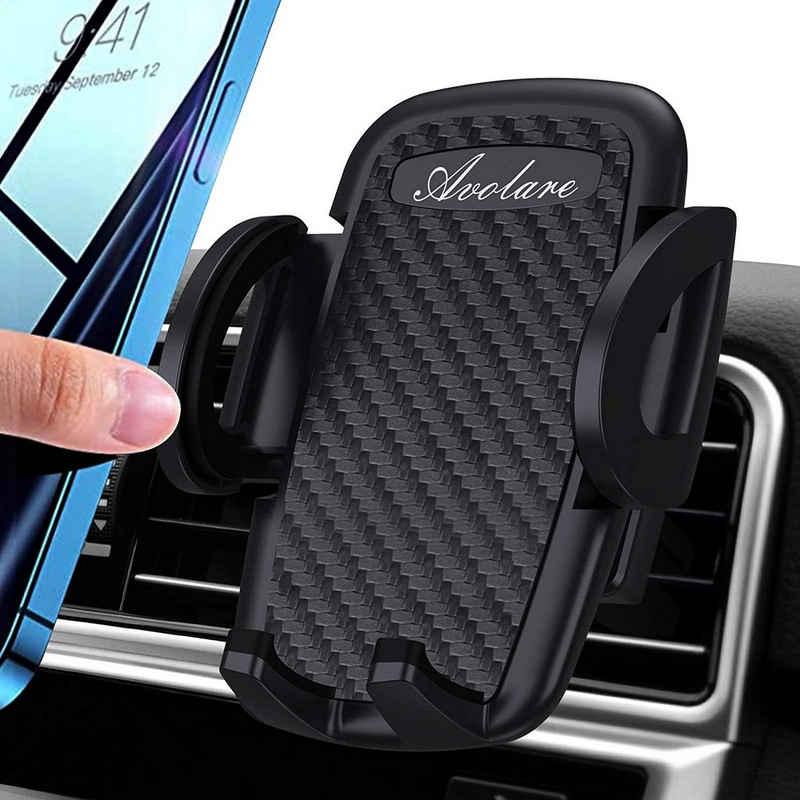 Elegear »KFZ Handyhalterung Halterung fürs Auto« Handy-Halterung, (bis 6,50 Zoll, 10-tlg., Ein Stück, Handyhalterung Auto Handyhalter fürs Auto Lüftung Handy KFZ Halterungen Universal Kompatibel für iPhone 11 Pro,Xs Max, XR, X, 8, 7, 6, Samsung S10 S9 S8)