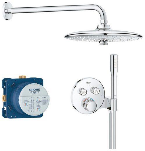 Grohe Duschsystem »Grohtherm Smartcontrol«, 4 Strahlart(en), Set, rund, chrom