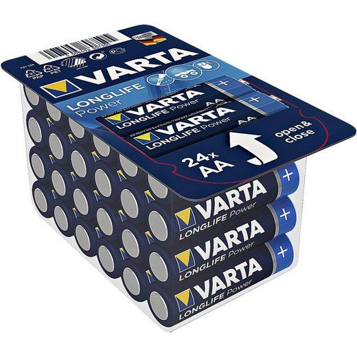 VARTA »LONGLIFE Power« Batterie, (24 St), AA, mit langer Lebensdauer