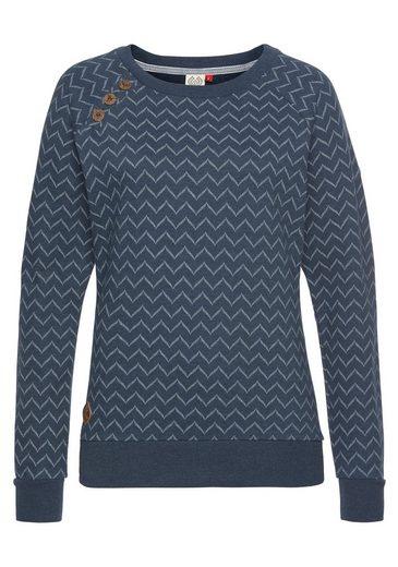 Ragwear Sweatshirt »DARIA ZIG ZAG« mit Zig-Zag-Allover-Druck