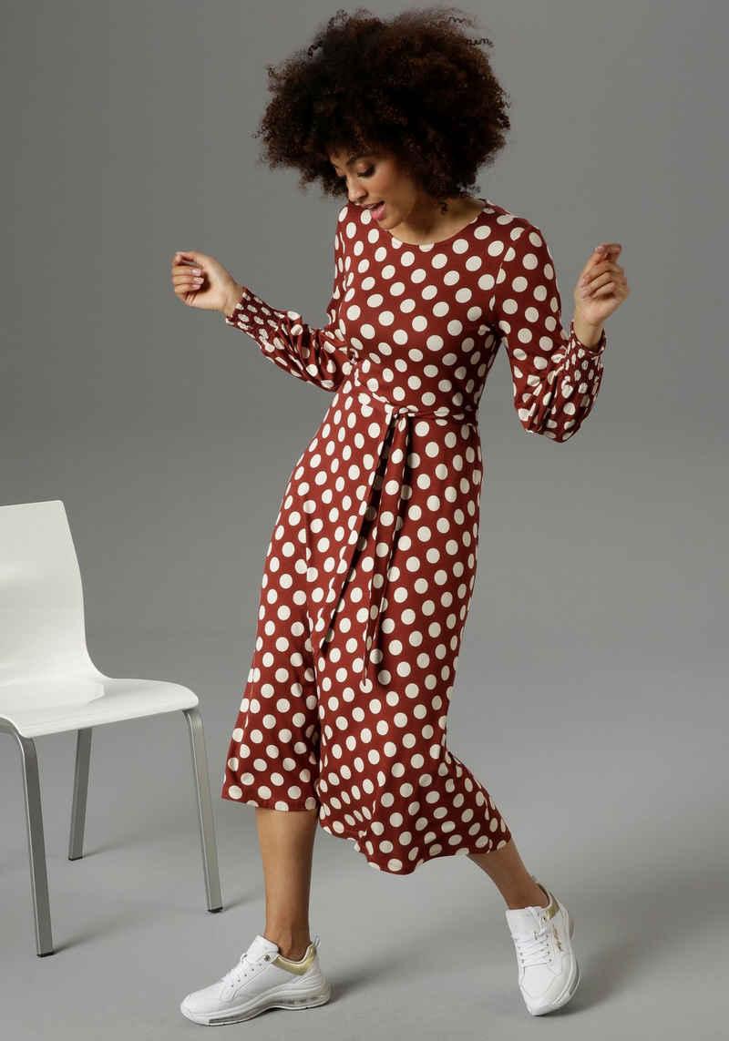 Aniston SELECTED Jerseykleid mit gesmokten Ärmelabschlüssen - NEUE KOLLEKTION