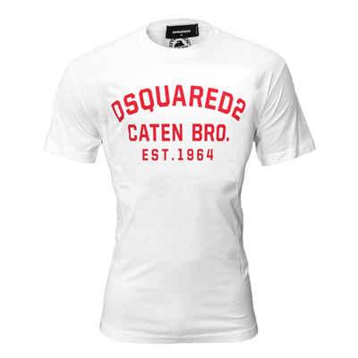 Dsquared2 T-Shirt Weiß mit rotem Print